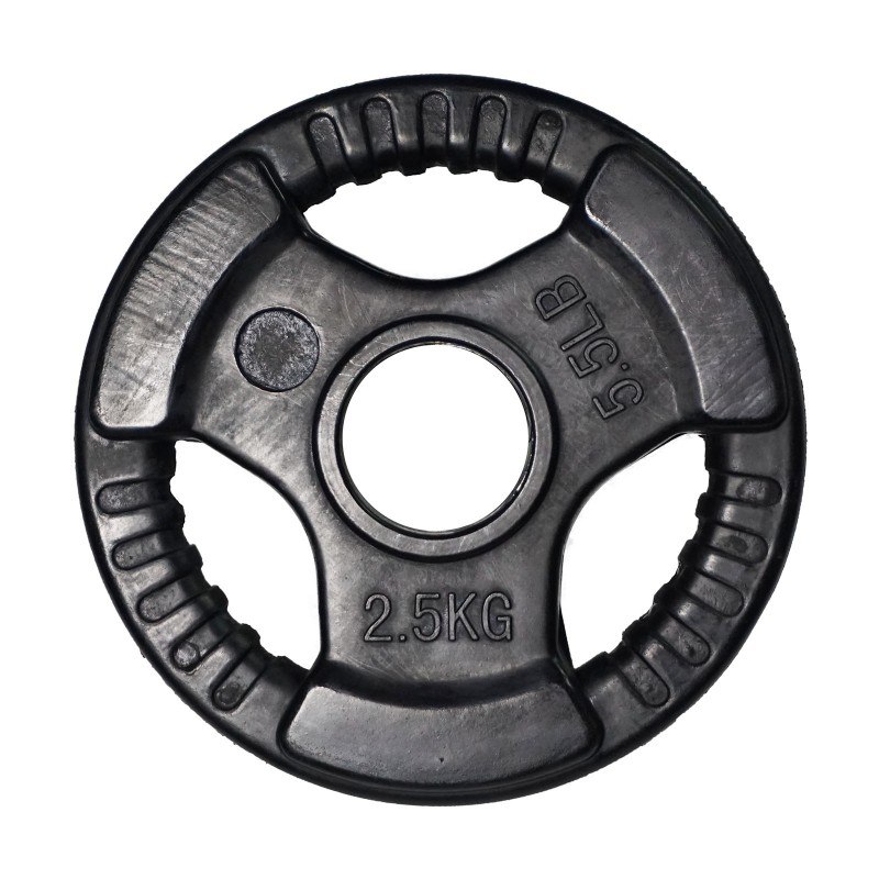 Olimpinis gumuotas metalo svoris 2,5 kg 51 mm