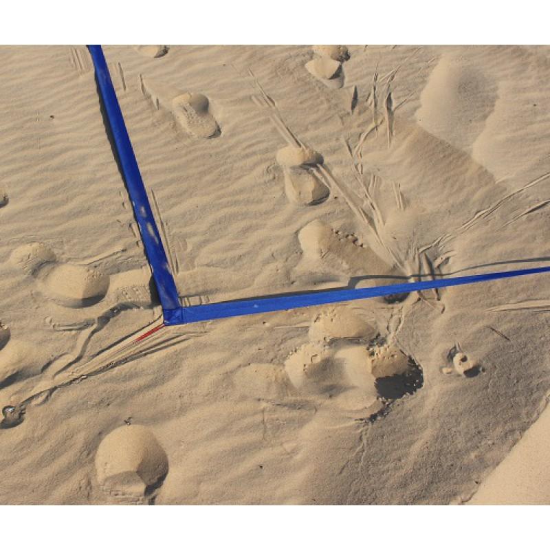 Paplūdimio tinklinio Linijos 8x16m - Raudonos spalvos