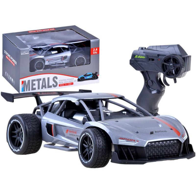 """Nuotoliniu būdu valdomas metalinis automobilis """"Arrival"""", sidabrinis"""