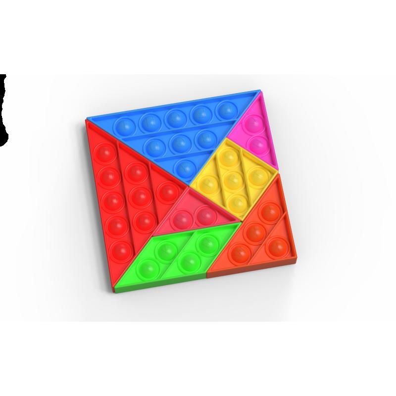 """POP IT antistresinis žaislas """"Tangramas"""", dėlionė"""